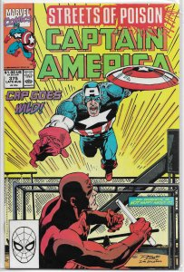 Captain America   vol. 1   #375 FN (Streets of Poison 4)