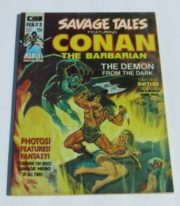 Savage Tales #3 FN 1974 Conan the Barbarian Magazine Barry Windsor Smith Art
