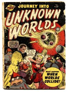 JOURNEY INTO UNKNOWN WORLDS #37 Hitler in Space story! 2nd issue 1950-Atlas