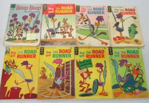 Road Runner lot 8 diff books 10, 12 + 15 cents covers (Silver + Bronze Ages)