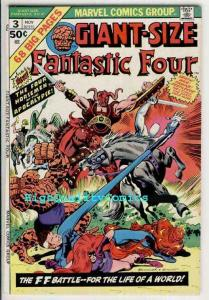 GIANT-Size FANTASTIC FOUR #3, VF, Apocalypse, Thing, Torch, more FF in store