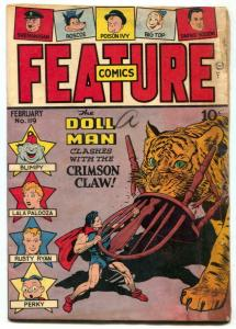 Feature Comics #119 1948- DOLL MAN-  Crimson Claw G