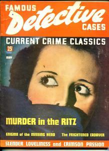 Famous Detective Cases 5/1936-Leopold & Loeb-decapitation-murder-VG-