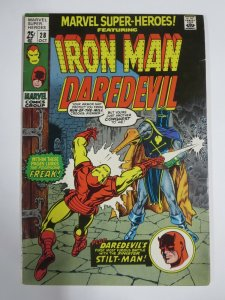 MARVEL SUPER-HEROES #28 VG/F (Marvel, May 1970)  Daredevil! Iron Man!