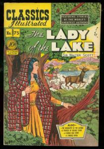 CLASSICS ILLUSTRATED #75 HRN 75-LADY OF THE LAKE-1ST ED VF