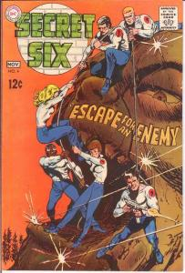SECRET SIX 4 VF+  November 1968 COMICS BOOK