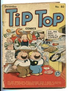 Tip Top Comics #80 1942 Captain and the Kids- Golden Age  incomplete