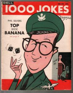 1000 Jokes #84 12/1958-Phil Silvers-Sgt Bilko-jokes-cartoons-gags-G-