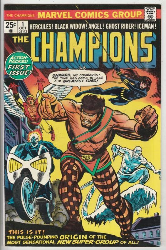 Champions, The #1 (Oct-75) NM- High-Grade Ghost Rider, Hercules, Black Widow,...