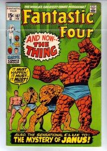 Fantastic Four #107 (Feb-71) FN/VF+ High-Grade Fantastic Four, Mr. Fantastic ...