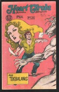 Heart Throbs Komiks 7/29/1982-romance & horror  stories-Published in Philippi...