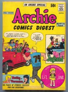 Archie Comics Digest #1 1973- Neal Adams- Betty & Veronica FN