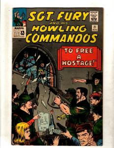 Sgt. Fury & His Howling Commandos # 21 VF Marvel Silver Age Comic Book JF11