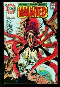 Haunted #18 1974- Charlton Horror Comics-Staton cover- FN