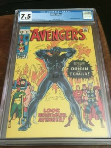AVENGERS #87 - CGC 7.5 - ORIGIN OF BLACK PANTHER - EARLY BRONZE AGE KEY