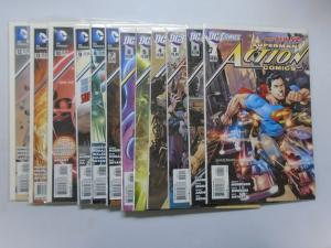 Action Comics (2nd Series) Set:#1-12, 8.0/VF (2011) DC New 52, Superman