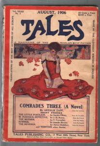 Transatlantic Tales 8/1906-foreign pulp fiction-Good Girl Art cover-VG