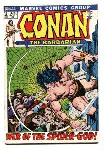 Conan The Barbarian #13 comic book 1972-  Barry Smith -Robert E Howard FN+