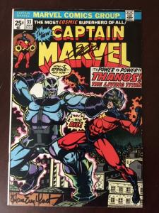 CAPTAIN MARVEL #33 VF+ SIGNED STARLIN & ENGLEHART!  ULTIMATE THANOS COLLECTION!