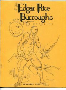 Edgar Rice Burroughs News Dateline #21  2/1986-Tarzan-fanzine-newsletter-VF