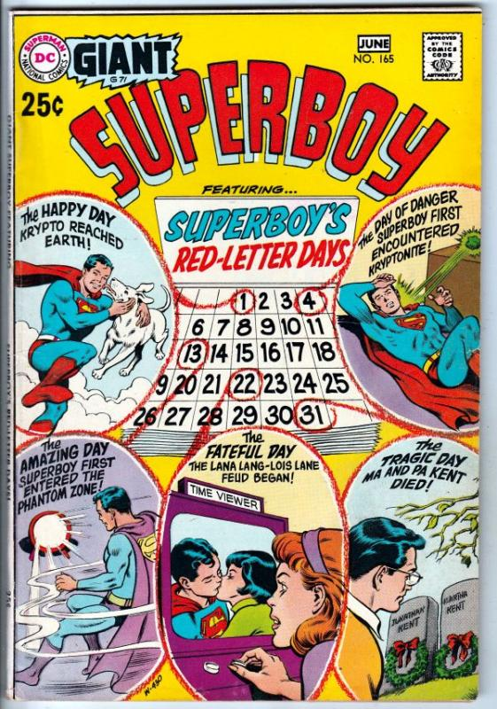 Superboy #165 (Jun-70) VF/NM High-Grade Superboy