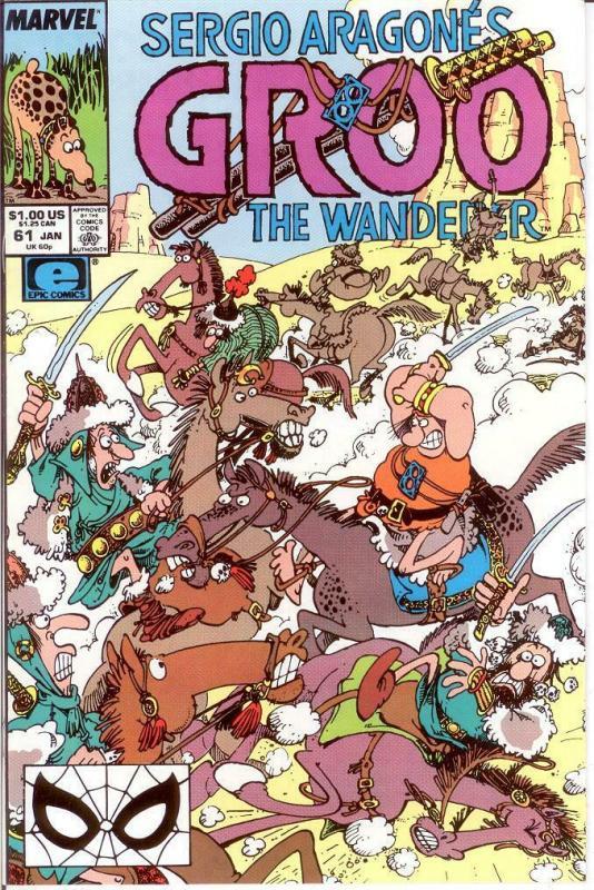 GROO 61 VF-NM Jan. 1990 SERGIO ARAGONES COMICS BOOK