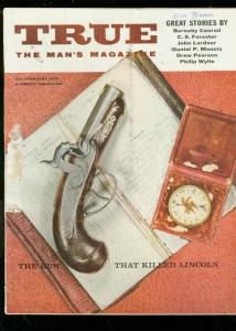 TRUE MAGAZINE FEB 1959-CS FORESTER-SNAKES-FISHING VG