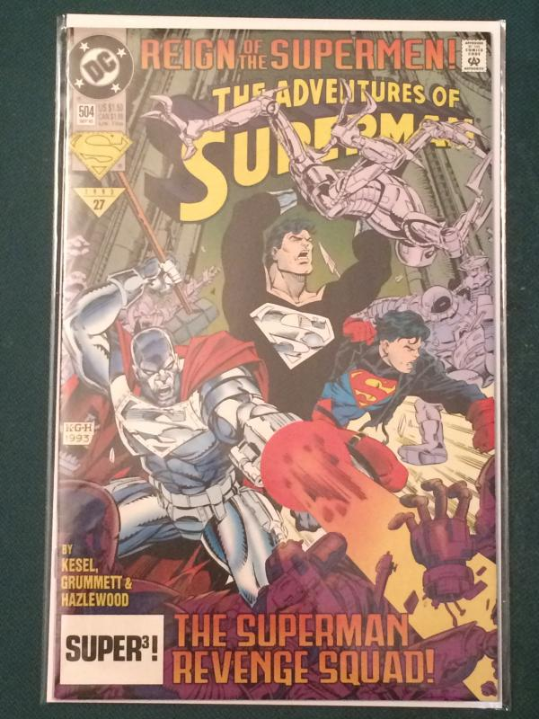 The Adventures of Superman #504 Reign of the Supermen