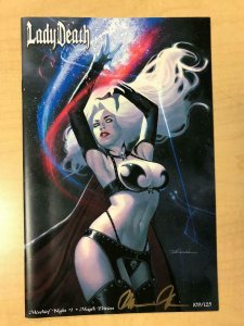 LADY DEATH Mischief Night #1 MAGIK Variant Cover by Jeff Dekal Signed by Pulido