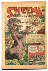 Jumbo Comics #131 1950- Sheena- coverless reading copy