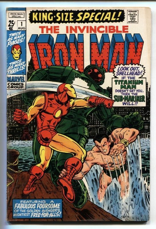 IRON MAN Annual #1  1970 Sub-Mariner Marvel comic book VG