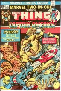 MARVEL TWO IN ONE 4 VF July 1974 COMICS BOOK