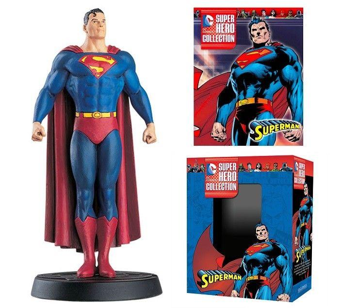 DC Superhero Collection #2 Superman Figure w/Booklet (Eaglemoss, 2015) New!