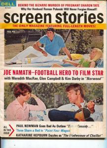 Screen Stories-Joe Namath-Lee Marvin-Paul Newman-Katherne Hepburn-Nov-1969