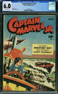 Captain Marvel Jr. #22 (Fawcett, 1944) CGC 6.0