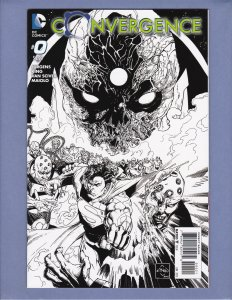 Convergence #0 B&W Variant Cover NM Front/Back Cover Scans DC 2015