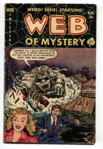 WEB OF MYSTERY #12 1952-Hanging panel-Brutal death by fire-PCH-VG+