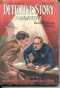 DETECTIVE STORY MAGAZINE-JAN 5 1917-GREGORY HAY-CAROLYN WELLS-DO GREY- G