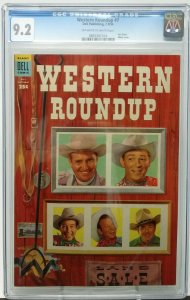 WESTERN ROUNDUP #7 ~ 1954 Dell ~ CGC 9.2 NM- ~ Dell Giant Photo Cover