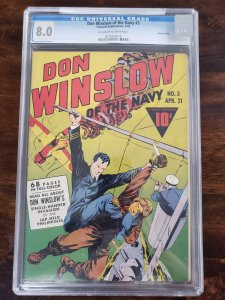 Don Winslow of the Navy 3 CGC 8.0 Crowley Pedigree. Old Pedigree label