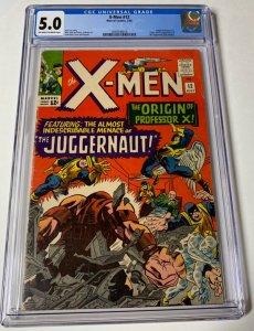 X-men 12 Cgc 5.0 Ow/w Pages 1st Juggernaut Marvel Silver Age