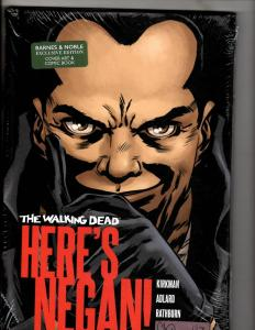 HERE'S NEGAN Image Comics Graphic Novel HARDCOVER SEALED Book Walking Dead J312