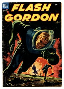 FLASH GORDON #2 1953-DELL-EXPLOSION COVER- SCI-FI-THRILLS-vg