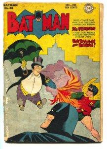 Batman #38-Penguin cover-1947-DC Golden-Age-incomplete