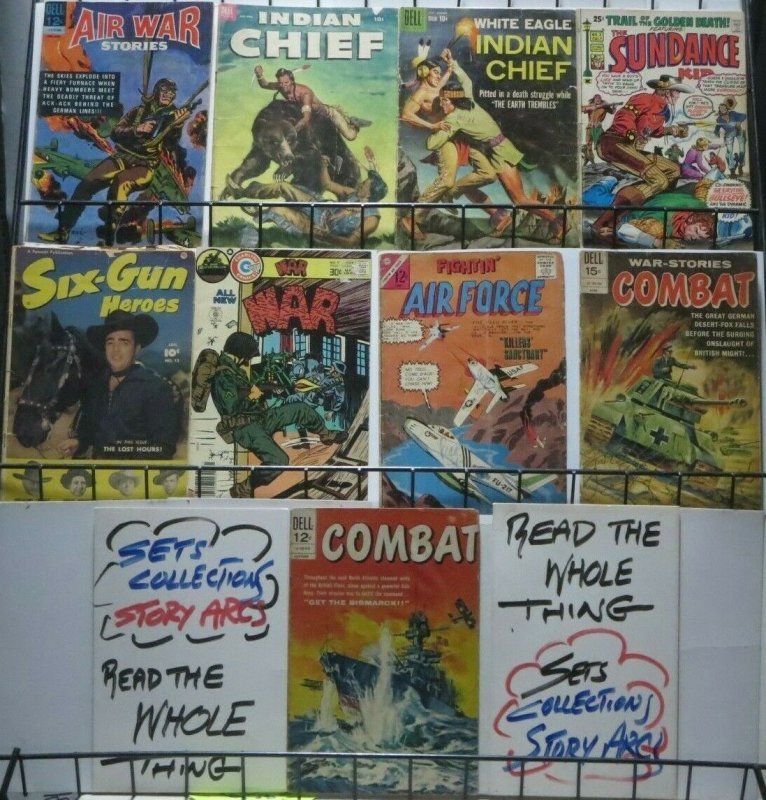 SILVER AGE WAR AND WESTERN COLLECTION!  9 BOOKS! Dell/Gold Key! Charlton!