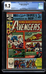 Avengers Annual #10 CGC NM- 9.2 Off White to White 1st Rogue!