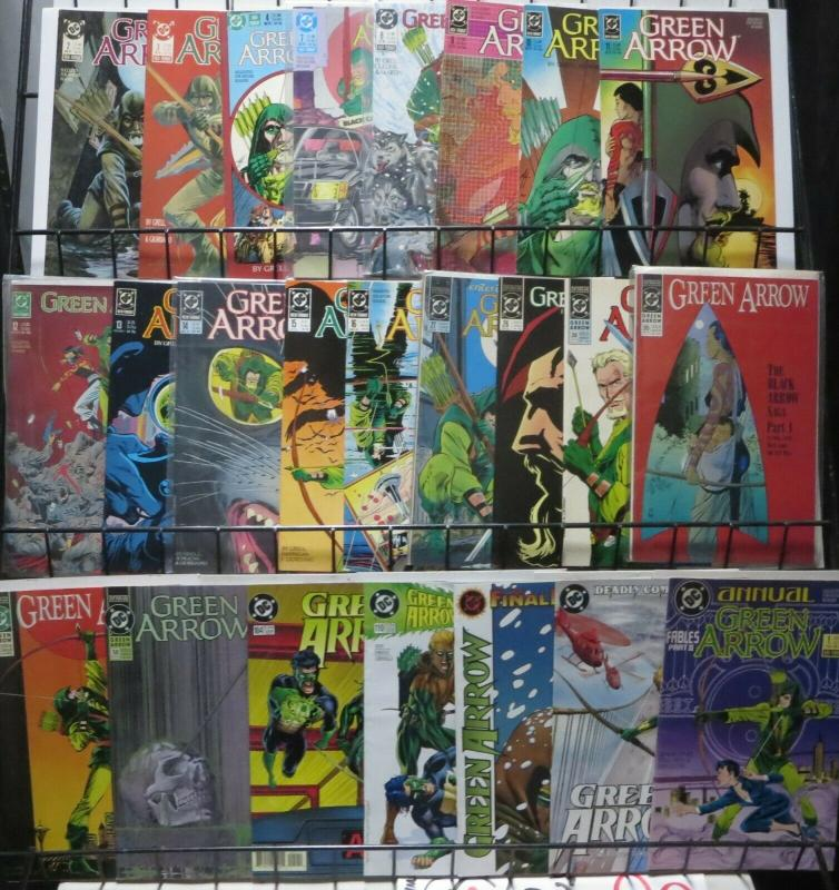 GREEN ARROW COLLECTION! (1988, DC) 24 BOOKS! Mike Grell, Chuck Dixon,Queen/Hawke