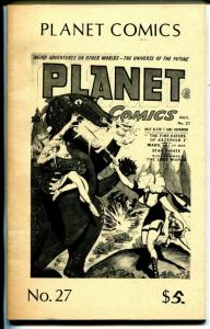 Planet Comics #27-reprints-about 5 1/2 x 8 1/2-FN