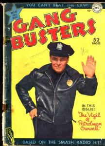 GANG BUSTERS #12-PHOTO COVER-PRE-CODE CRIME-DC-COPS G/VG