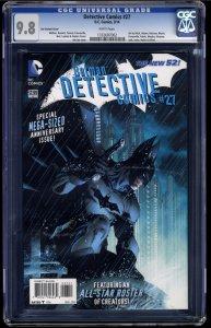 Detective Comics (2011) #27 CGC NM/M 9.8 White Pages